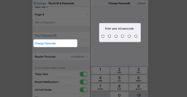 change your iPhone or iPad passcode from 6 to 4 digits 3.png