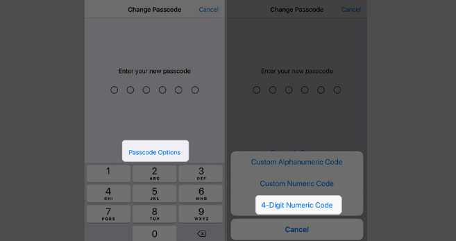 change your iPhone or iPad passcode from 6 to 4 digits 4.png