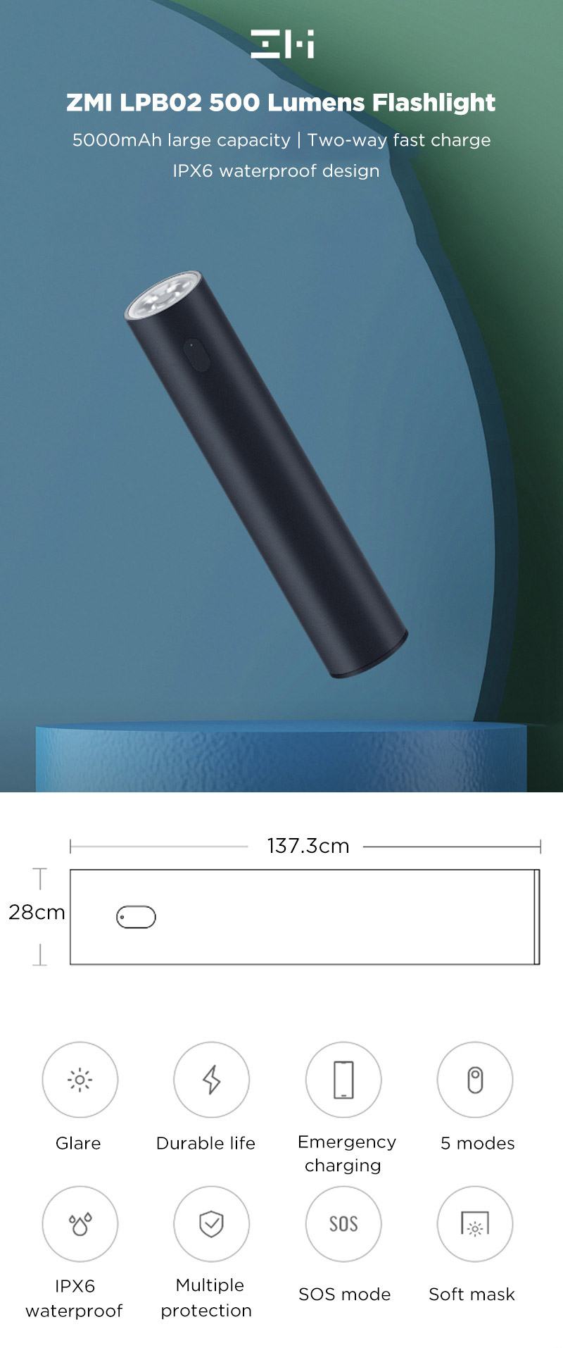 Xiaomi ZMI LPB02 5000mAh Power Bank Flashlight.jpg